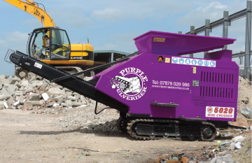 5000 series Purple Pulveriser Crusher