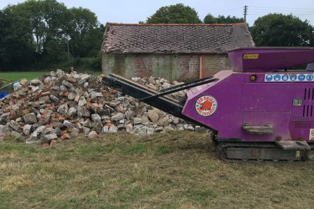 Crushed concrete in Battle, Kent