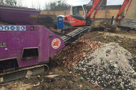 Crusher hire in Tunbridge Wells, Kent. Micro Machine Hire