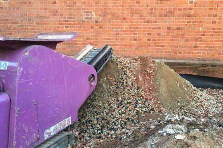 Micro Machine Hire 4000 Purple Mini Rock Crusher.JPG