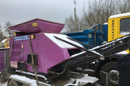 Purple crusher in the snow